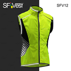 Fluorescent Lime Class 2 High Visibility Reflective Running Motorcycle Biking Slim Breathable Safety Cycling Vest for mans