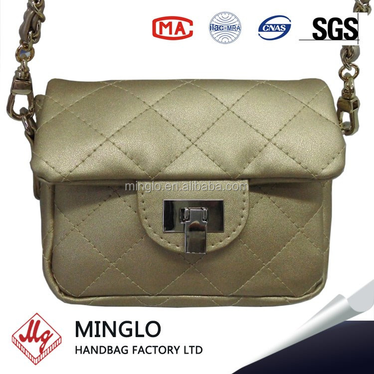 designer real leather quilted handbags woman's bag made in china