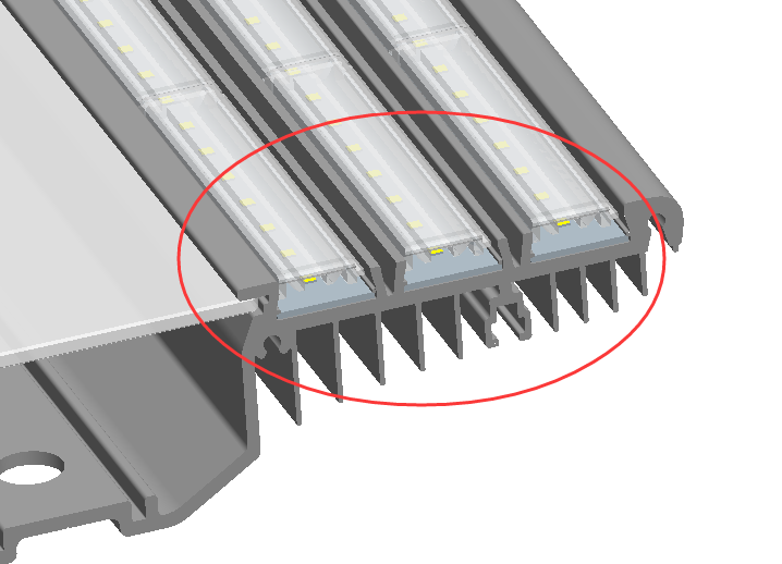 slot design easy to install logistic warehouse module led lighting planning smd5730 bay light