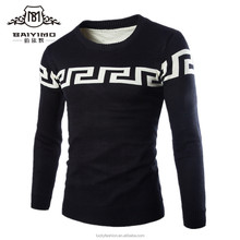 China Supplier Custom Latest Plain Designs Pullover Wool Cashmere Men Knitting Sweater