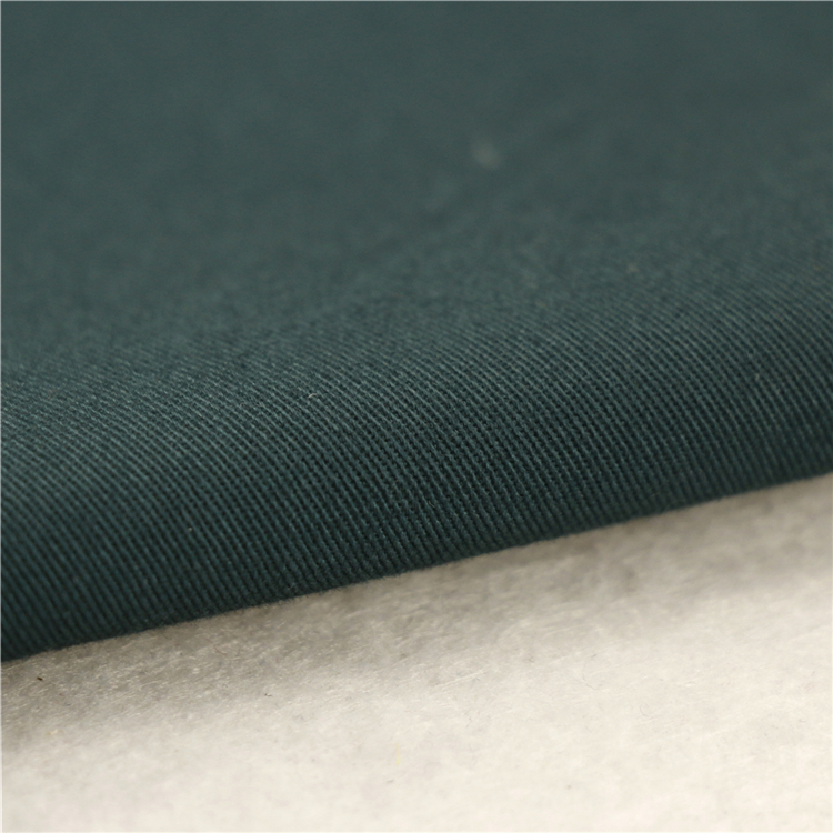 21x20+70D/137x62 241gsm 157cm green black cotton stretch twill 3/1S grey elastane fabric fabric with best price