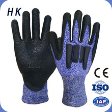 adult sexy polycoton latex glove products finger cut gloves for safety protection