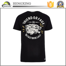 95 cotton /5 elastane t-shirt wholesale cheap bulk black t-shirts printing
