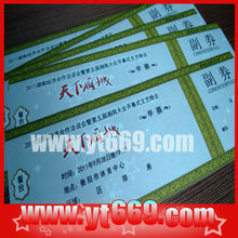 Security tickets/ voucher /coupons printing
