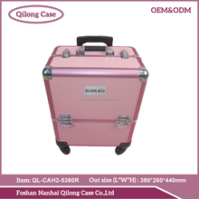 2016 Fashion Colorful Aluminum Professional Makeup Trolley Case