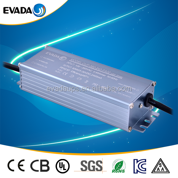 AC 25~36V 70W 0.3~3A Waterproof Electronic LED Driver Power Supply