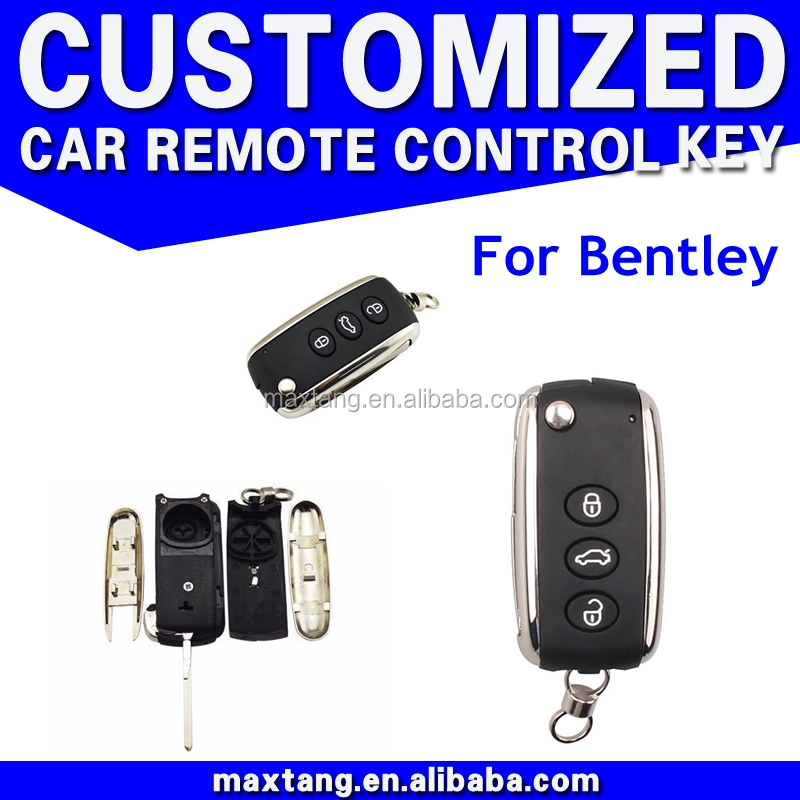 3 Button Modified Folding Flip Remote Key Shell Fob for Bentley (Fits: 2003 Bentley) CS093