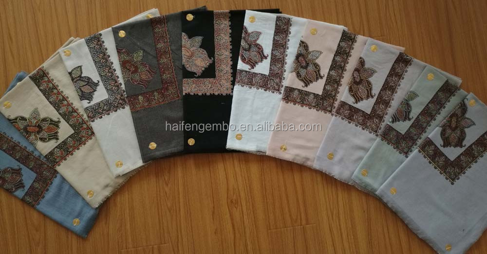 Hot sale wholesale muslim embroidery scarf shawls for men