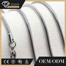 custome design men fashion stainless steel chain necklace