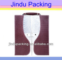 unique style wine glass pattern leather red wine cases carrier