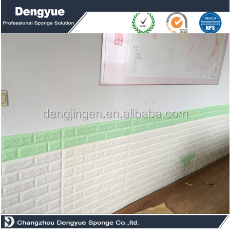 White Color PE Foam sound proof insulation wall 3D Brick Wallpaper Wall panels