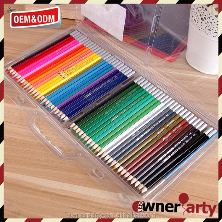 Colored Pencil Set with PVC Case, 7-Inch, Pack of 48, Printing Your Logo on Pencil and Package