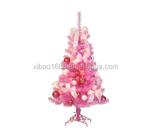 xibao brand fashion artificial traditional PVC christmas tree 2017 hot selling pink christmas tree