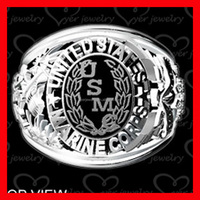 Classic Stainless Steel Jewelry Military Rings