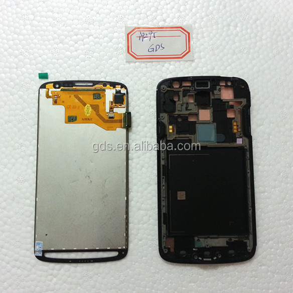 S4 Active i9295 lcd Display screen combo with housing grey with side keys
