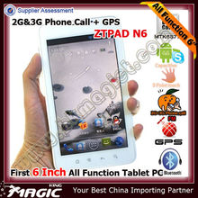 6 inch android tablet pc gps smart phone
