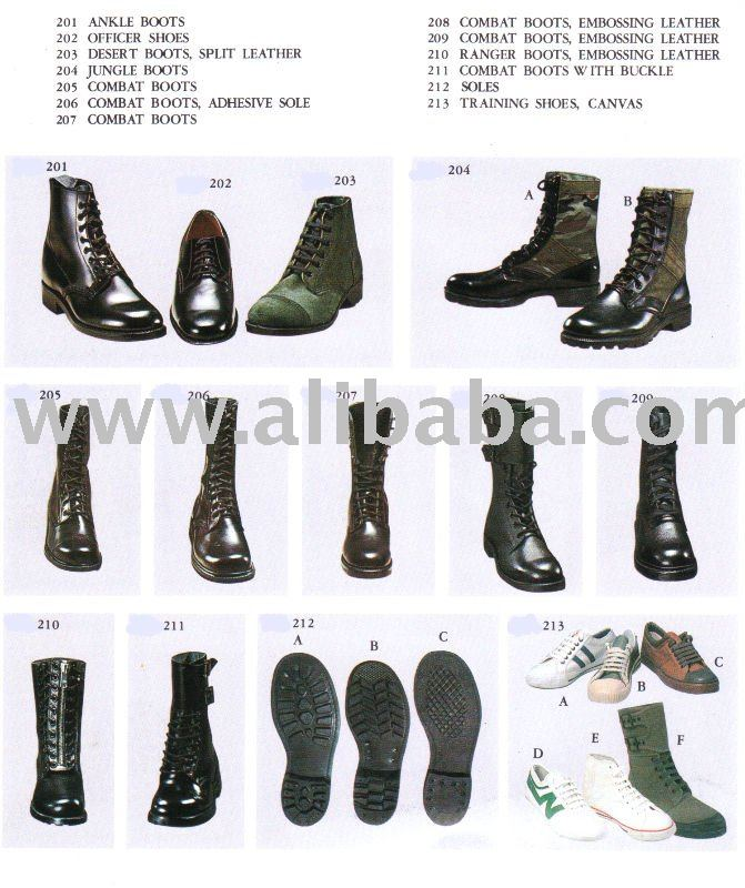 Military Boots and shoes