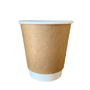 Wholesale 8oz to 35 ozDouble Wall Disposable Paper Cup Red Coffee