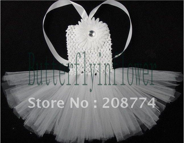 2014 hot sale high quality baby girl snow white tutus floral dresses for less children white party dress