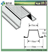 galvanized omega metal suspended ceiling furring channel profile dimensions
