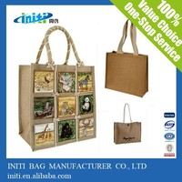 2015 China High Quality Organic Cotton Tote Bag With Two Rope Style Handles