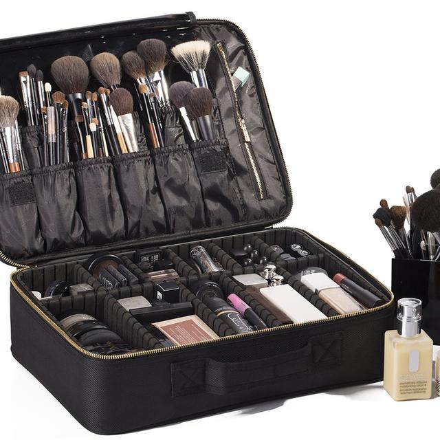 Portable EVA Makeup Case-Professional Make Up Cosmetic Artist Organizer Bag