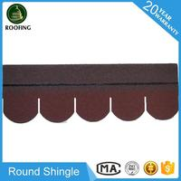 Professional Round roofing tile,cheap fiberglass asphalt roofing shingles made in China