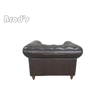 french style Leather Sofa,Classic Baroque Style Sofa one seat
