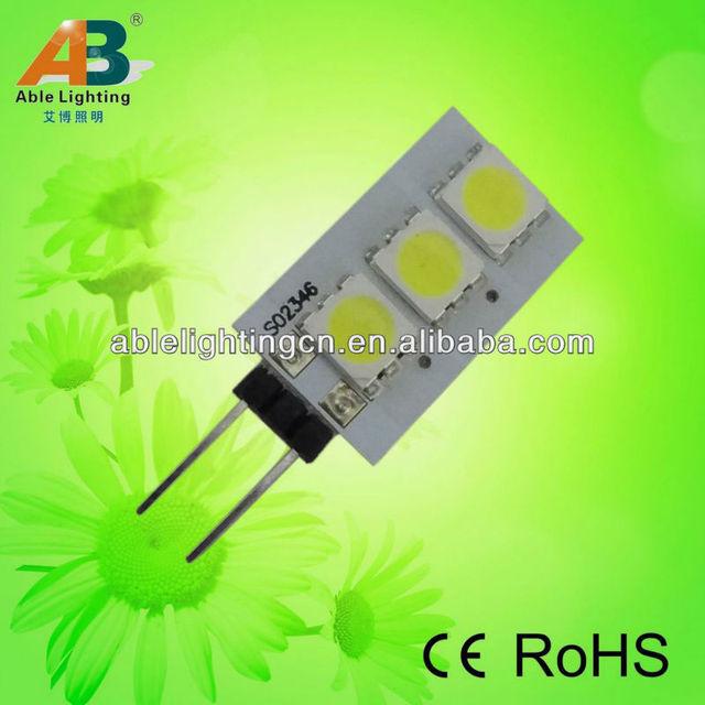 dimmable 0.6w 10mm g4 smd 5050 led spot light 2700k 12v ac dc