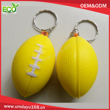 customized logo promotional mini rugby ball keyholders