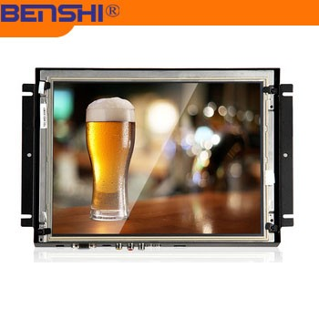 Audio/Video/S-video /DVI/VGA open frame LCD monitor with touch