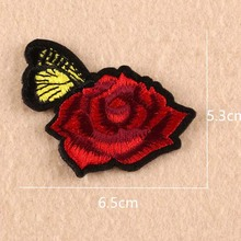 China Supplier Wholesale High Quality Rose Embroidery Embroiderdery Patch Artificial Flower For Dress