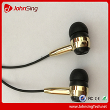 JohnSing 0724 Latest Headphone for iPhone 6S 2015 Newest Headphone for iPhone 6S Plus Wired Earphone with Golden Color Available