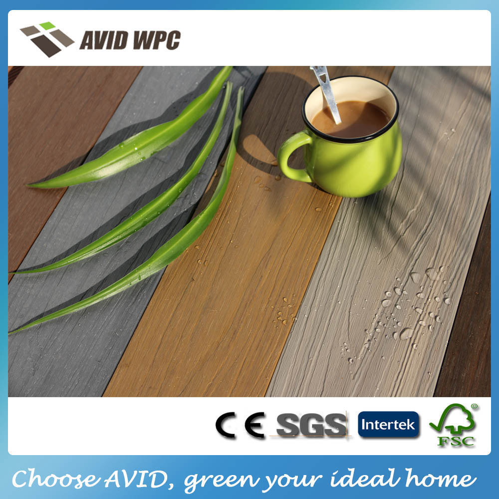 Hard wearing coextrusion decking composite synthetic decking for sale