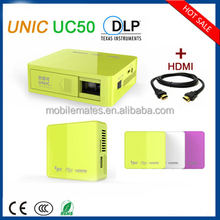 In Stock!!! 2016 New Fashion UC50 Projector Cheap HDMI mini 3D 1080p LCD Pocket DLP Projector