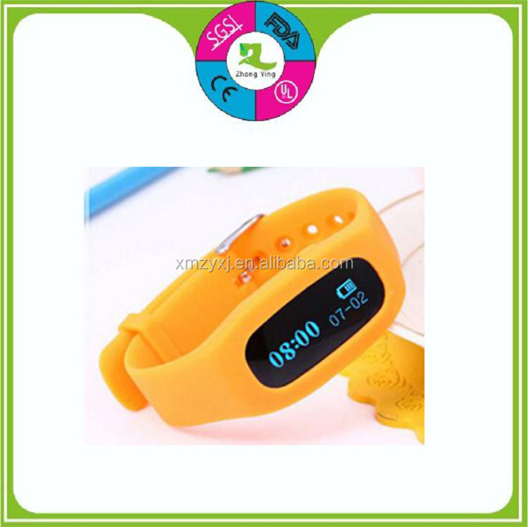 3D silicone pedometer wrist bracelet multifunctional smart watches pedometer