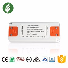 Constant Voltage Ultra slim power supply 2.5A 60W 24V Led Transfer driver