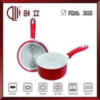 induction aluminum white ceramic milk pot