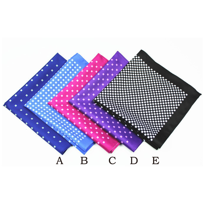 black red checks stripes color block grid pocket square hankies DPS5374