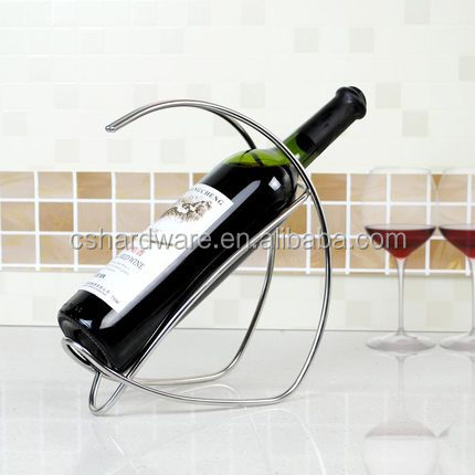 Novelty Stainless steel metal wire wine bottle holder