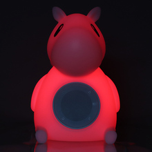 color changing animal table lamp kids night light blue tooth speaker