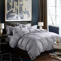 Plain color polyester dubai duvet cover sets,bedding set wholesale