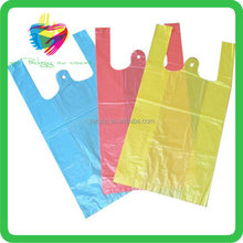 YiWu LDPE material,HDPE Material and Gravure Printing Surface Handling T-shirt Vest Packaging plastic shopping bag