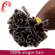 wholesale brazilian virgin remy hair nail tip/ U Tip hair