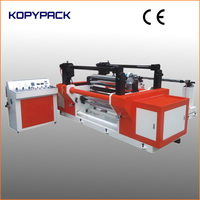 automatic tension controlling plastic film slitting and rewinding machine