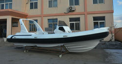 Liya 24.6feet rib hypalon inflatable boat, China customized boats cruiser