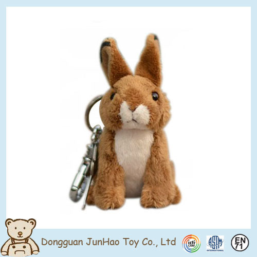 JunHao Wholesale Low Price Excellent Quality Key Chain Keyrings Animal Plush Toy Chains