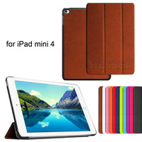 Ultra Slim Premium Auto Sleep Stand Case 7.9inch Smart Wallet Leather Cover For Ipad Mini4