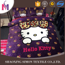 Fashion Beautiful100% Polyester Velvet Bed Cover Set King Size Bedding Sets Summer Microfiber Quilt