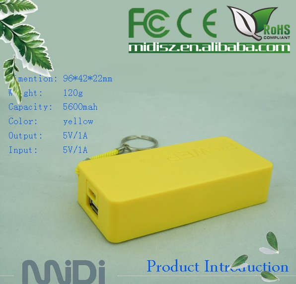 External Battery Pack power bank 5200mah used for phones charge bank+usb cable, portable mobile power bank